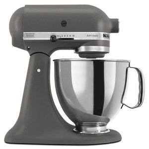 KitchenAid Artisan Series Stand Mixer 5 Quart With Pouring Shield - Imperial Grey. Model KSM150PSGR