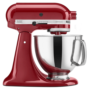 KitchenAid Artisan Tilt Head Stand Mixer with Pouring Shield, 5-Quart, Empire Red Model KSM150PSER