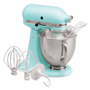 KitchenAid Artisan Series Stand Mixer 5 Quart With Pouring Shield - Ice. Model KSM150PSIC