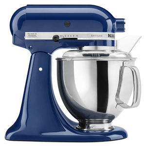 KitchenAid Artisan Series Stand Mixer 5 Quart With Pouring Shield In Blue Willow Model KSM150PSBW