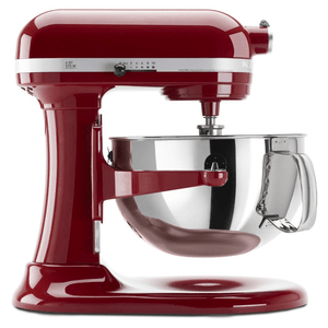 KitchenAid Professional 600 Series 6 Quart Bowl Lift Stand Mixer in Empire Red Model KP26M1XER