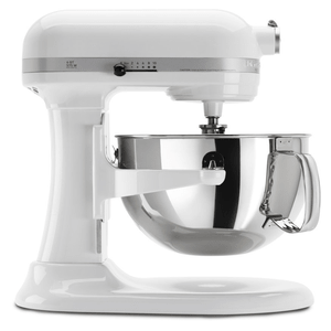 KitchenAid Professional 600 Series 6 Quart Bowl Lift Stand Mixer In White Model KP26M1XWH