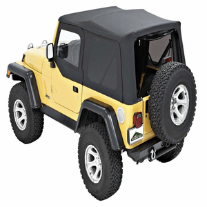 Pavement Ends by Bestop 51197-35 Black Diamond Soft Top Tinted Back Windows for Jeep TJ On Amazon