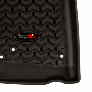 2007-2018 Jeep Wrangler JK Floor Mats JKU Front Floor Liners By Rugged Ridge On Amazon