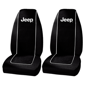 Universal Jeep Wrangler Logo High Back Front Bucket Seat Covers By Plasticolor On Amazon