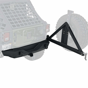 Jeep Tire Carrier For Jeep Wrangler JK 2007-2018 With Black Rear Bumper And Hitch By Smittybilt On Amazon