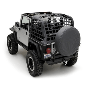 Smittybilt 561035 Black Diamond Jeep Cargo Net System For Jeep Wrangler TJ Models On Amazon
