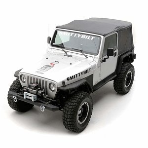 Smittybilt 9970235 Black Diamond Replacement Top with Tinted Window for Jeep Wrangler (OE Style) On Amazon