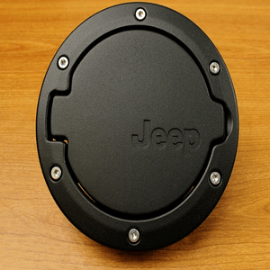 Mopar 82210609AC 2007 - 2017 Jeep Wrangler Satin Black Cover Gas Cap Fuel Filler Door