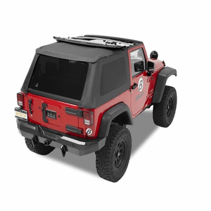 Complete Frameless Replacement Jeep Soft Top with Sunrider Sunroof For 2007-2017 Wrangler 2-Doors On Amazon