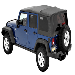 Bestop 54723-35 Black Diamond Supertop NX  Soft Top With Tinted Windows for Jeep Wrangler JK Unlimited On Amazon