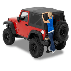 Bestop 54722-35 Black Diamond Supertop NX Soft Top With Tinted Windows for Jeep Wrangler JK 2-Door On Amazon