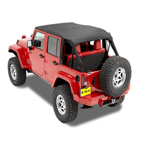 Bestop 52594-35 Bikini Black Diamond Safari Style Header Top for 2010-2018 Wrangler Unlimited On Amazon