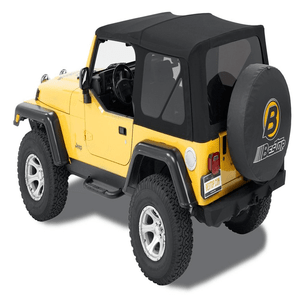 Bestop 54820-17 Supertop NX Black Twill Complete Replacement Soft Top For Jeep Wrangler TJ Models On Amazon