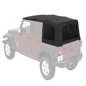 Jeep Wrangler JK Soft Top Replacement For 2007-2018 4-Door Complete Soft Top With Tinted Windows On Amazon