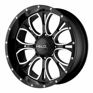 Helo HE879 Jeep Wheel With Gloss Black Milled On Amazon