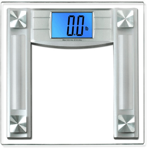 BalanceFrom High Accuracy Digital Bathroom Scale with 4.3 in Large Backlight Display and Step-on Technology in Silver