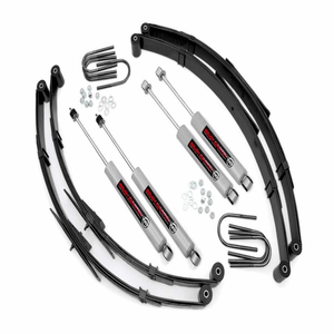 Rough Country 2.5-Inch Lift Kit Fits 1987-1995 Jeep Wrangler YJ Suspension System On Amazon