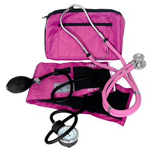Dixie EMS Blood Pressure and Sprague Stethoscope Kit, in Pink