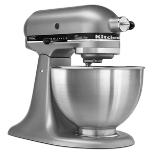 KitchenAid Classic Plus Stand Mixer 4.5 Quart With Tilt Head, Silver. 300 Watt Model KSM75SL