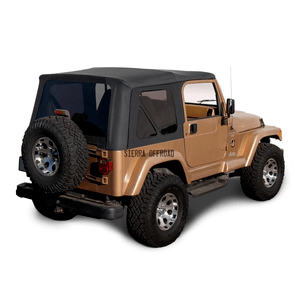 Factory Style Jeep Soft Top For Jeep Wrangler TJ 1997-2002 With Tinted Windows By Sierra Offroad On Amazon