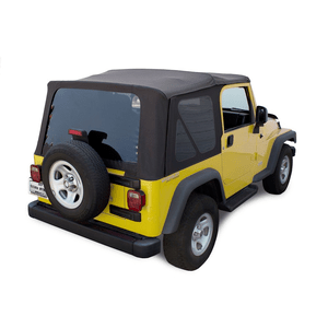 Sierra Offroad TJ 2003-06 Factory Style Soft Top with Tinted Windows in Black Diamond. (except Unlimited) On Amazon