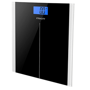 Etekcity Digital Body Weight Scale with Step On Technology in Black