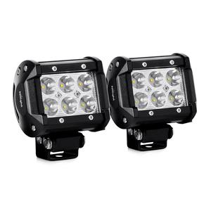 Jeep Wrangler LED Fog Lights 18W LED Light Bar With Fog Light Mounting Bracket On Amazon
