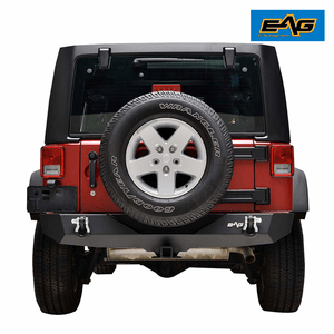 Black Rock Crawler Jeep Wrangler JK Rear Bumper Heavy Duty With 2-Inch Hitch Receiver On Amazon