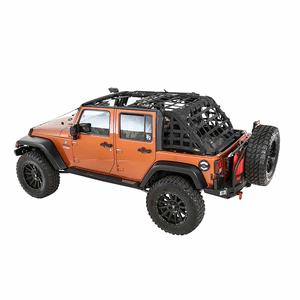 Smittybilt 581135 Heavy-Duty Jeep Cargo Net For 2007-2018 Jeep Wrangler JK 4-Door Models On Amazon