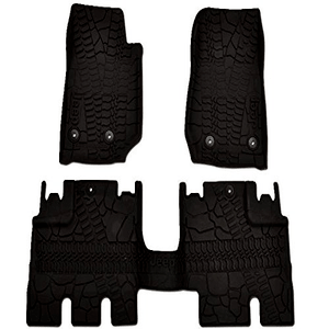 Mopar Jeep Wrangler JK 4-Door Floor Mats 3pc JKU All-Weather Textured Black 2007-2018 On Amazon