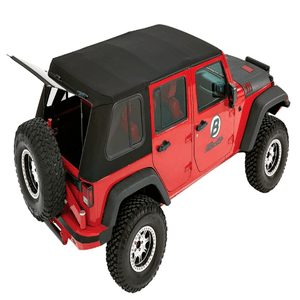 Bestop 54853-17 Trektop Pro Hybrid Soft Top w/ Tinted Sliding Side Panels for 07-18 Jeep Wrangler JK 4-Door On Amazon