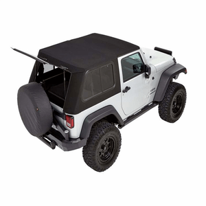 Bestop 54852-17 Trektop Pro Hybrid Soft Top Tinted Sliding Side Panels For The Jeep JK 2-Door On Amazon
