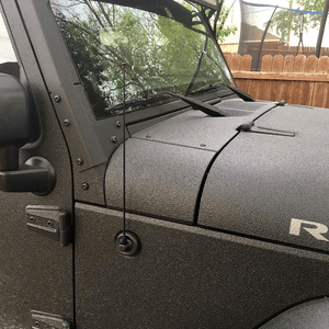 15-Inch Black Stainless Steel Jeep Antenna For Jeep Wrangler JK/JL (2007-2021) On Amazon