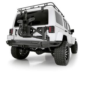 Jeep Wrangler JK 2007-2018 Bolt-On Tire Carrier For The Smittybilt XRC Gen2 Bumper Heavy Duty Black Steel On Amazon