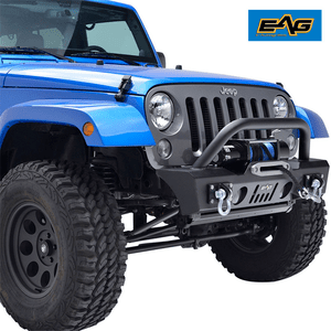 Jeep Wrangler JK Stubby Front Bumper with OE Fog Light Housing On Amazon