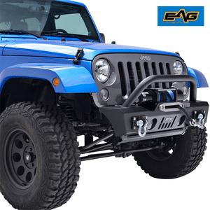 Heavy-Duty Jeep Wrangler JK Stubby Front Bumper with OE Fog Light Housing On Amazon