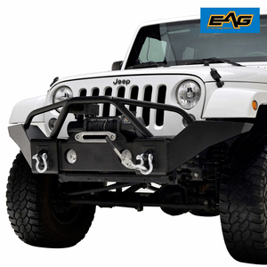 EAG Front Bumper Full Width with Winch Plate and Fog Light Housing for 07-18 Jeep Wrangler JK Off-road On Amazon