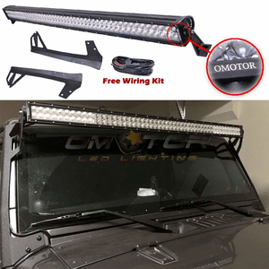 Jeep Wrangler 50-Inch 288W Cree LED Straight Light Bar With Brackets