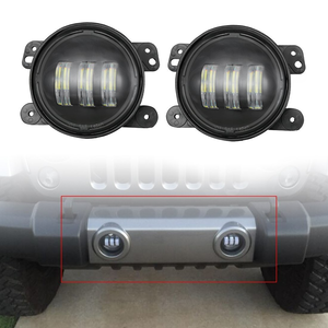 SUPAREE 4 Inch 30w CREE LED Jeep Wrangler Fog Lights Offroad Lamps On Amazon
