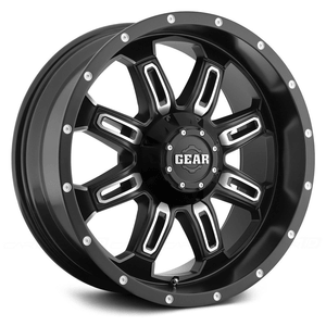 Gear Alloy 725MB Dominator Jeep Wheel With Machined Finish On Amazon