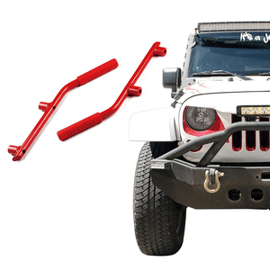 Red Jeep Wrangler JK Front & Rear Grab Bar Steel Grab Handle Kit for Jeep 2007-2018 By Xprite On Amazon