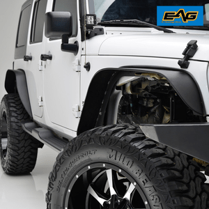 EAG 2007-2018 Jeep Wrangler JK Front And Rear Fender Flares Steel