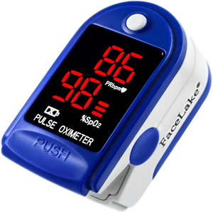 Facelake Fl400 Pulse Oximeter with Neck wrist Cord Carrying Case and Batteries