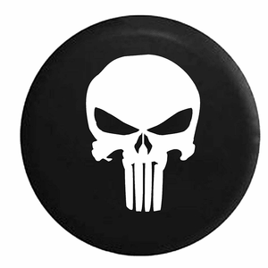 Punisher Skull Spare Jeep Wrangler Tire Cover Vinyl Black In Multiple Sizes On Amazon