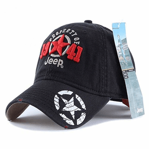 Jeep 1941 Hat Unisex Adjustable Horizon Classic Washed Dyed Baseball Cap acc4df820af4