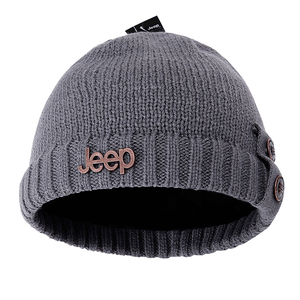Jeep Winter Warm Knit Skull Beanie Hat with Fleece Inner for Both Men And Women On Amazon