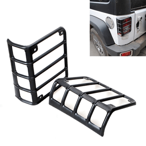 Black Rear Euro Jeep Tail Light Cover Guards For 2007-2018 Jeep Wrangler JK Models On Amazon