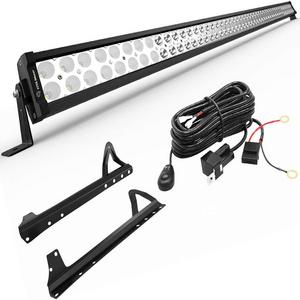 52-Inch 300W Jeep LED Light Bar Kit Brackets For 2007-2018 Jeep Wrangler JK Models On Amazon