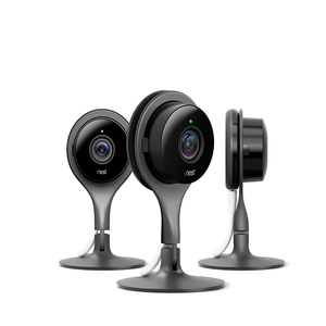 Nest Cam Indoor Home Security Cameras 3 Pack, 1080p HD, Works with Amazon Alexa